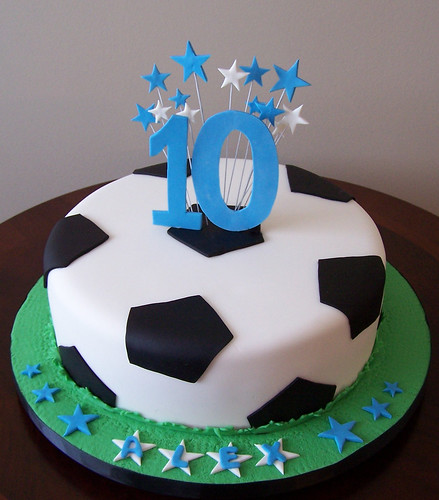 Cake Arch Balloon Design : Soccer ball cake Regular 10