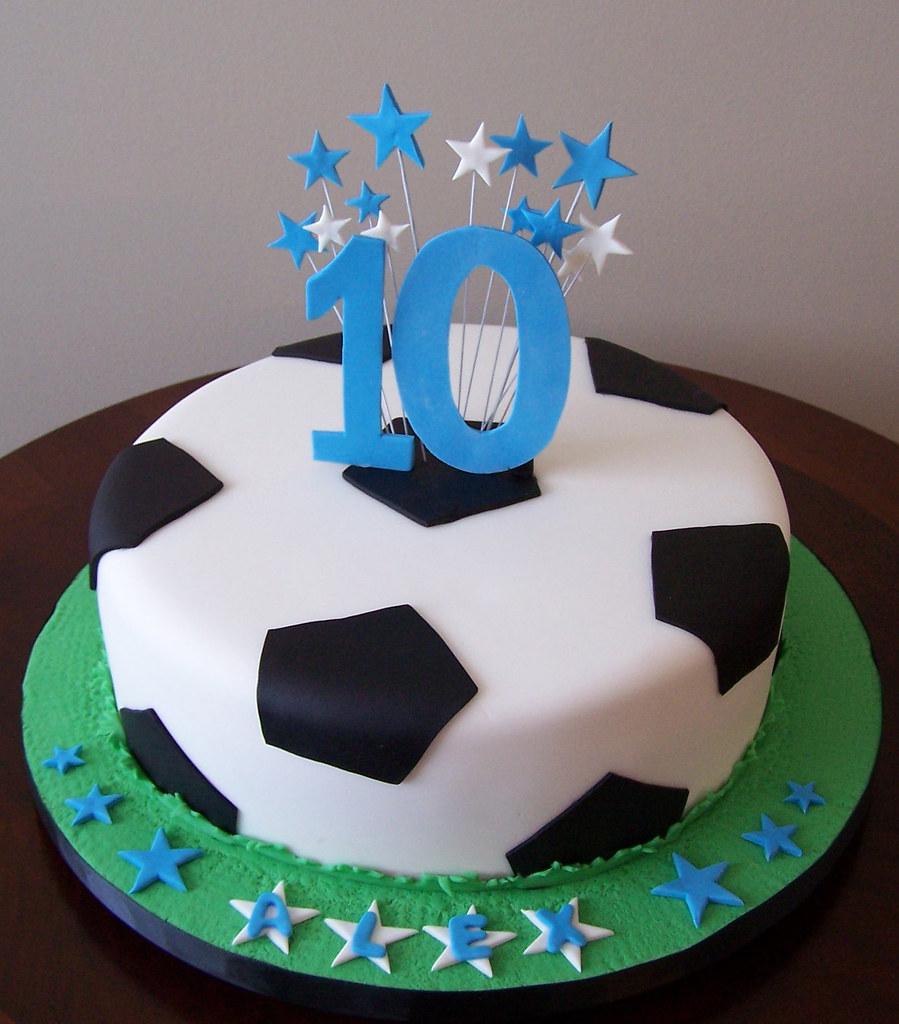 Soccer Happy Birthday Cake
