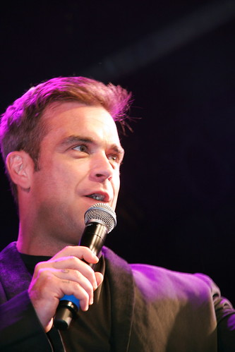 Robbie Williams Lights switch on | by Peter G Simpson