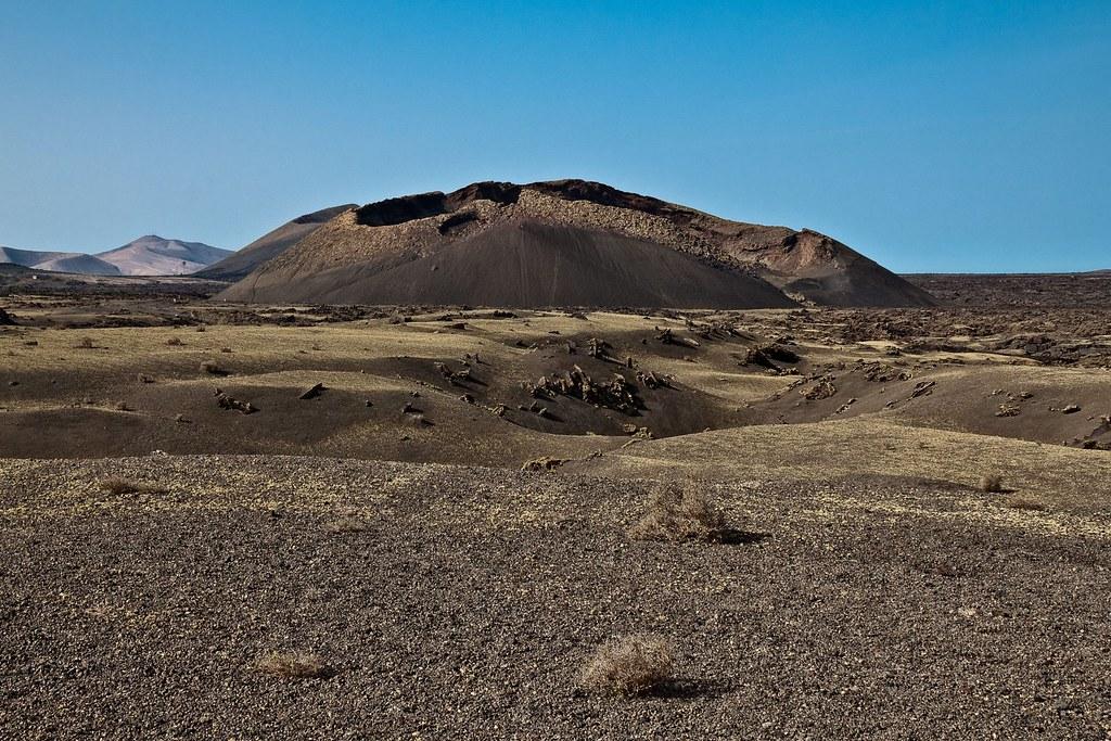 Map Lanzarote Cuervo Volcano Canary Islands