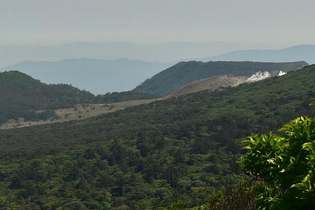 霧島山・硫黄山の噴煙