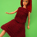 vintage hand knit Barbie doll clothes 003