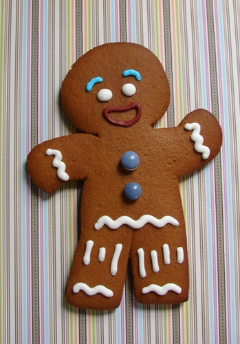 Shrek gingy a giant gingy cookie for a shrek fan decorada flickr - Biscuit shrek ...