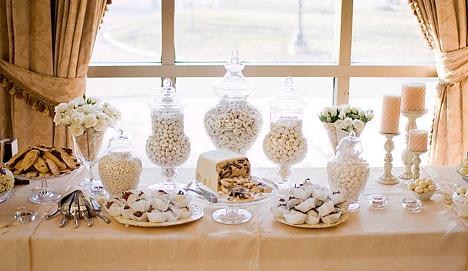 White Wedding Dessert Buffet | www.bride.ca/wedding ideas | Flickr