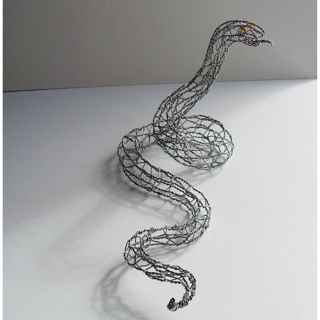 Snake Wire Sculpture - right | 20 gauge galvanized steel wir… | Flickr