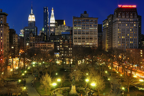 Union Square at Night, NYC | by andrew c mace