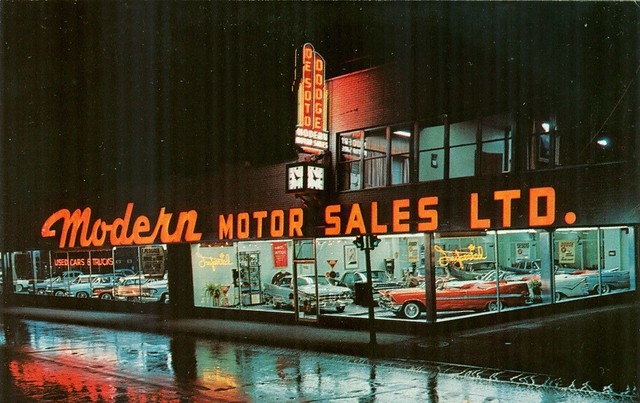 Modern Motor Sales Ltd Montreal Quebec Canada 1959