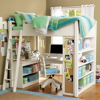 Pbteen Loft Bed Loft Bed With Desk And Bookcase Suneestevens