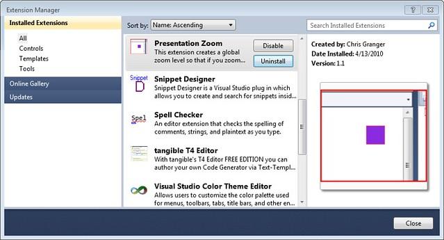 Visual Studio Designer Zoom