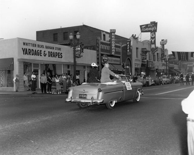 1958 Parade On Whittier Blvd East L A A Parade In