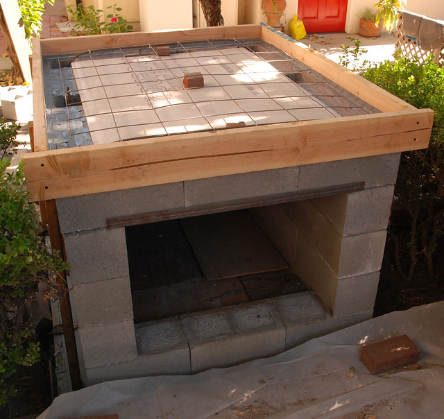 Hearth Oven: Pizza Oven, Hearth Is Framed Out And Ready For Concrete
