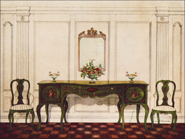 1927 painted formal dining room sideboard this sideboard for Dining room c house of commons