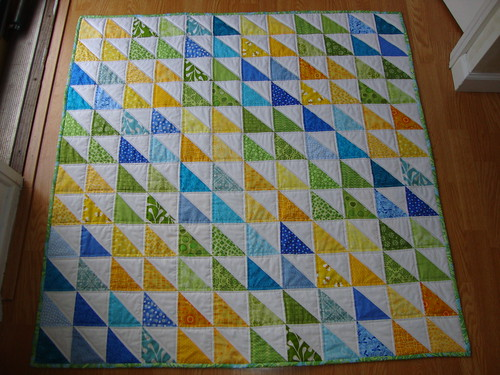 half square triangle baby quilt | by sewcraftyjess