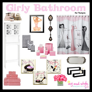 Design Board - Girly Bathroom | by Jessie {Creating Happy}