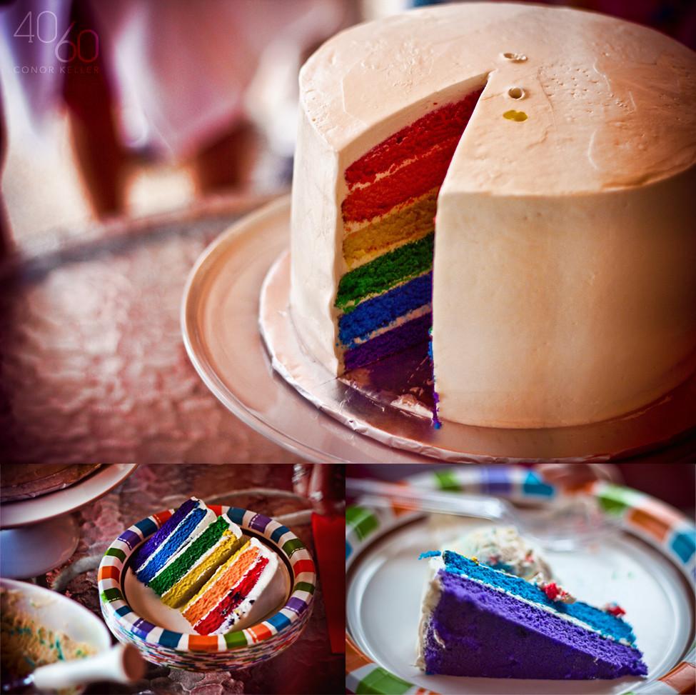 Rainbow Surprise Cake Michels Patisserie