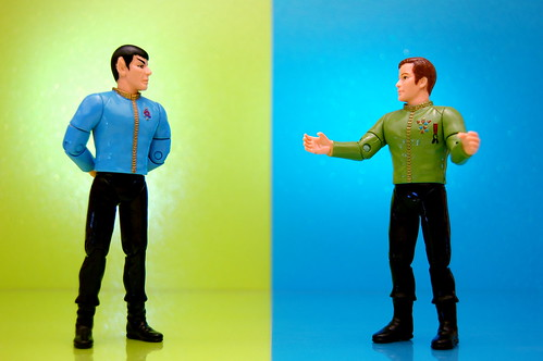 Mr. Spock vs. James T. Kirk (151/365) | by JD Hancock