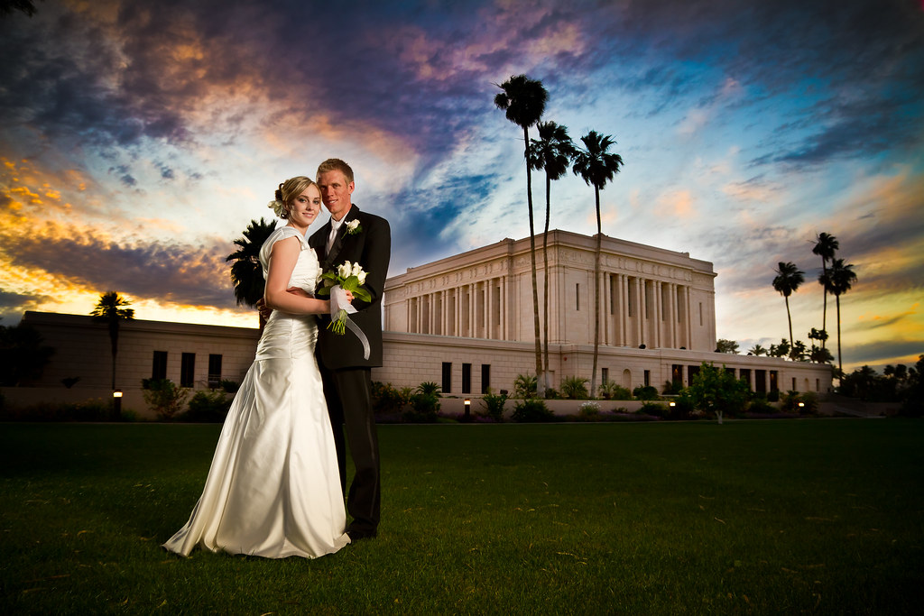 Wedding Photography Arizona: Mesa Arizona Temple Wedding Photographer