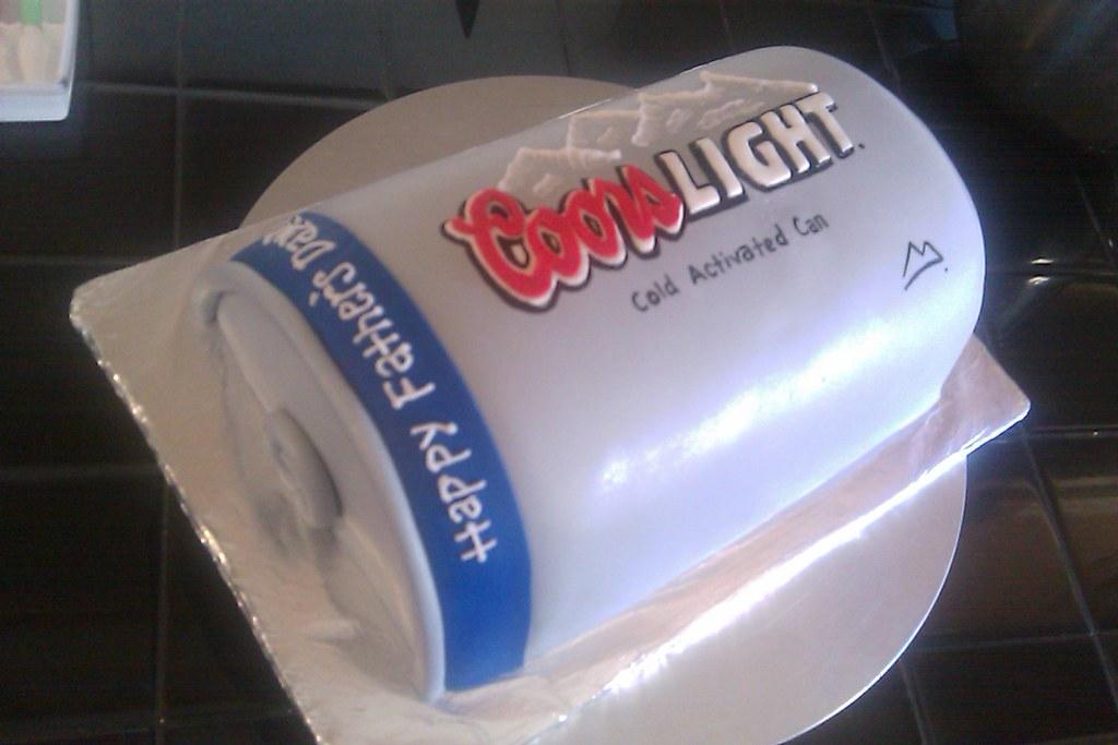 Coors Light Cake 2 Fondant Covered Carved Cake Janelle