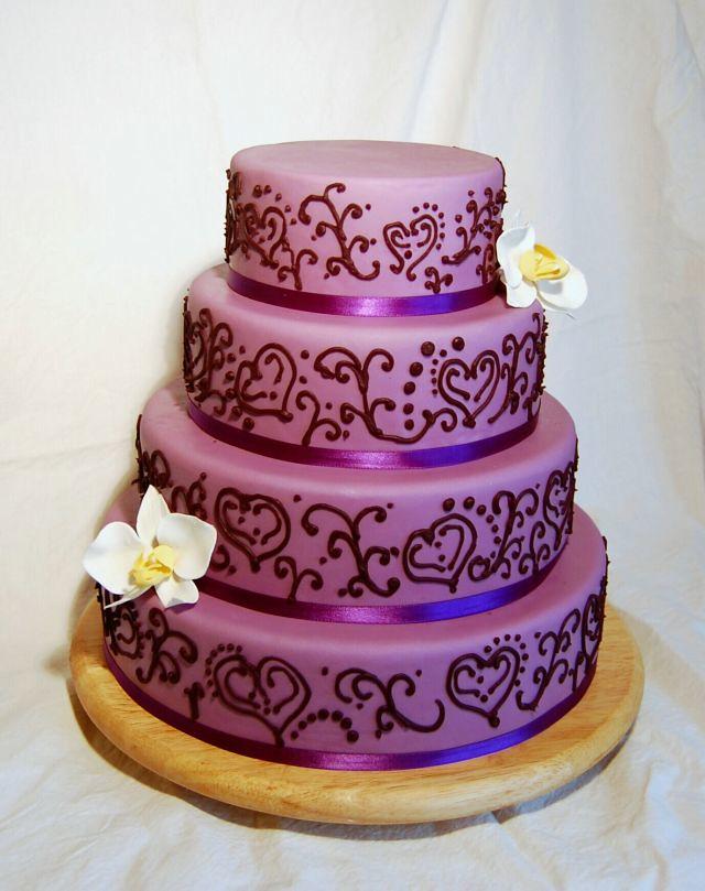 Lila Hochzeitstorte Janes Cake Tragedy Flickr