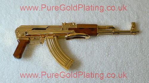 gold plated ak 47 i side angle puregoldplating flickr. Black Bedroom Furniture Sets. Home Design Ideas