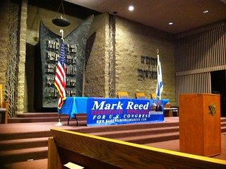 Mark Reed town hall at Ramat Zion Temple | by Linda Milazzo