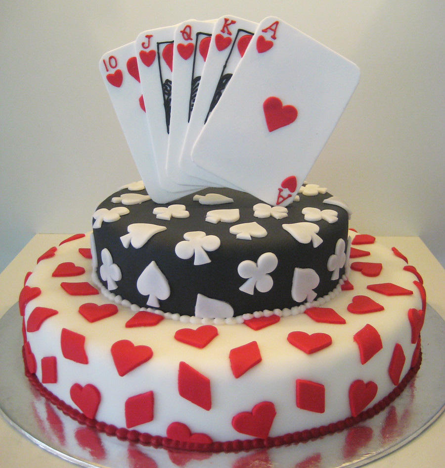 Playing Cards Birthday Cake Designs