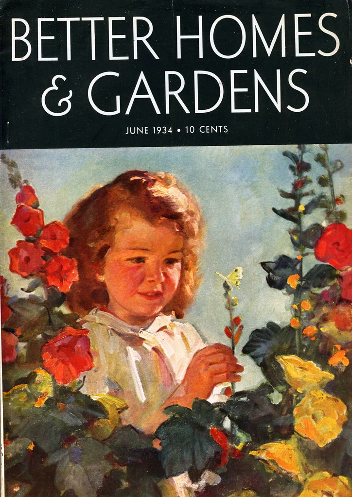 Better homes gardens june 1934 cover illustration by Yahoo better homes and gardens