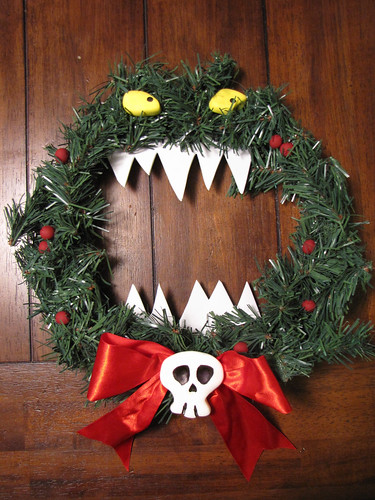 Nightmare Before Christmas killer wreath | by amyflo