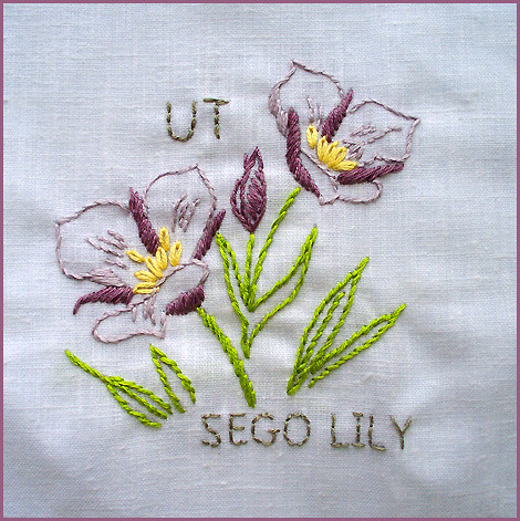 Utah--State Flower | #17 in the State Flower Quilt project! … | Flickr