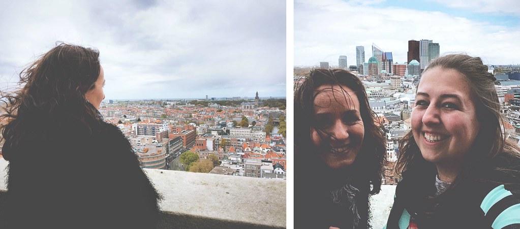De skyline van Den Haag kun je sinds kort vanaf het balkon van de 'oude' Haagse Toren bewonderen. Hier heb je 360 graden zicht op de stad en Scheveningen | via It's Travel O'Clock