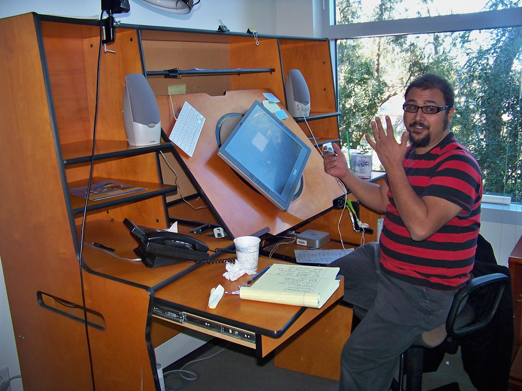 Joe At His Animation Desk At Phineas And Ferb Loren