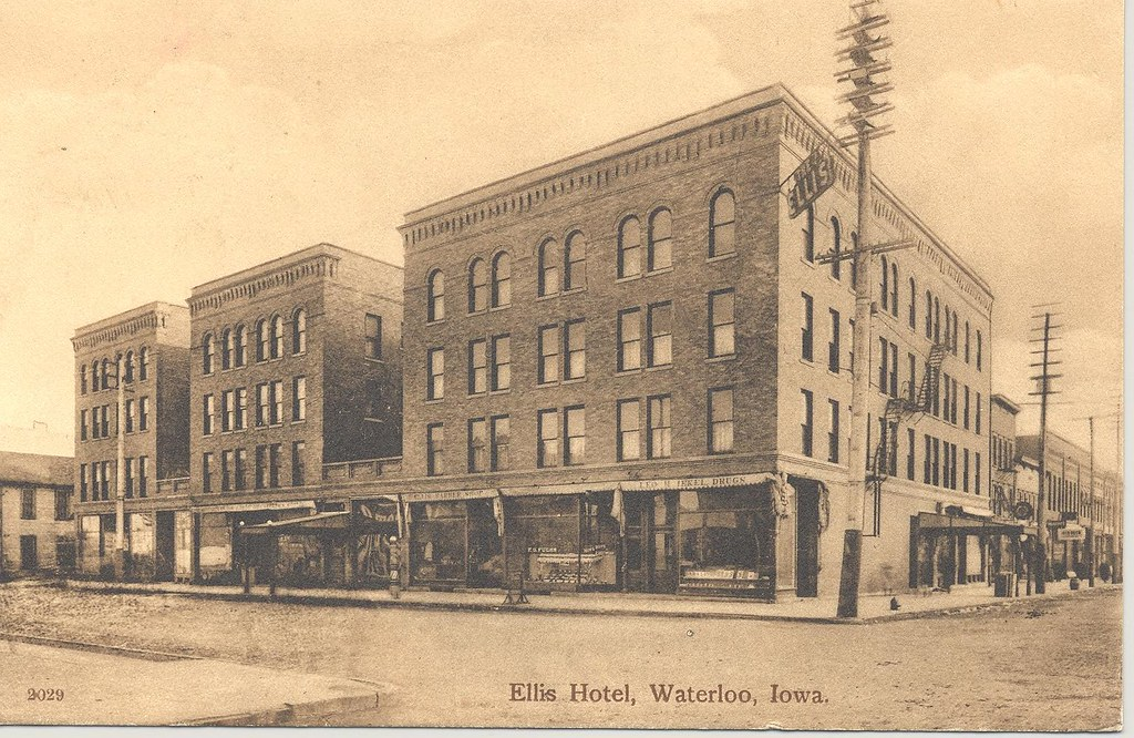 ellis hotel waterloo iowa waterloo public library flickr. Black Bedroom Furniture Sets. Home Design Ideas