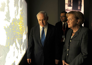 Netanyahu and Merkel at Berlin Holocaust Museum 18Jan10 | by IsraelMFA