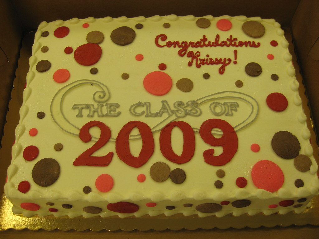 Decorated Graduation Sheet Cakes