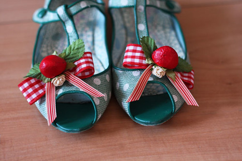 Strawberry shoe clips | by Katarina Roccella