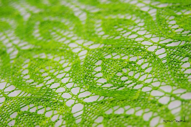 Detail | Stitches. Yarn. Leaves. Green. Yarn: Wollmeise Sock… | Flickr