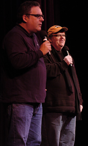 Jeff Garlin and Michael Moore | by tcfilmfest