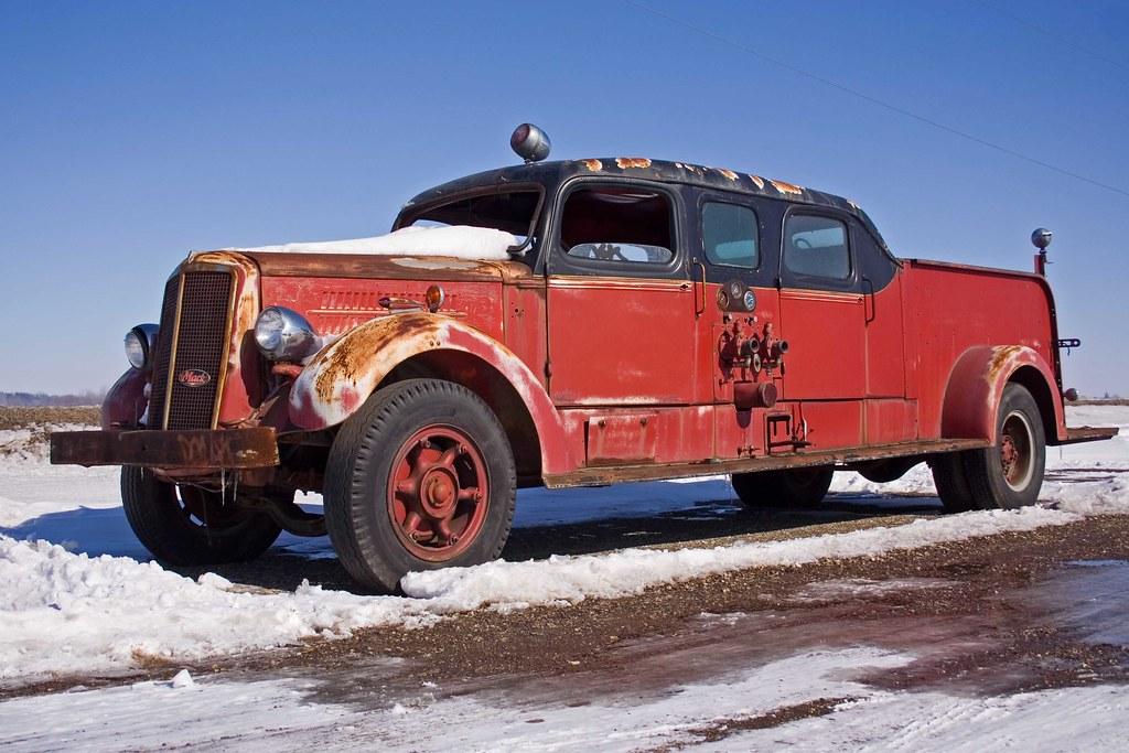 Old Mack Fire Trucks : Mack fire truck this old pre war was