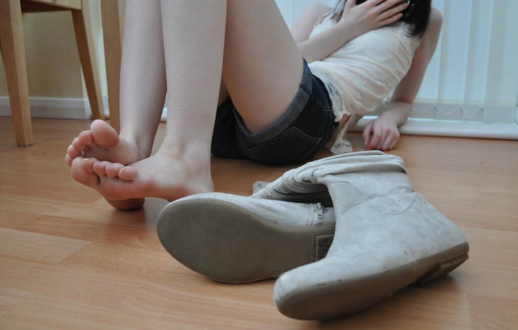 Cute blonde soles pov trample 10