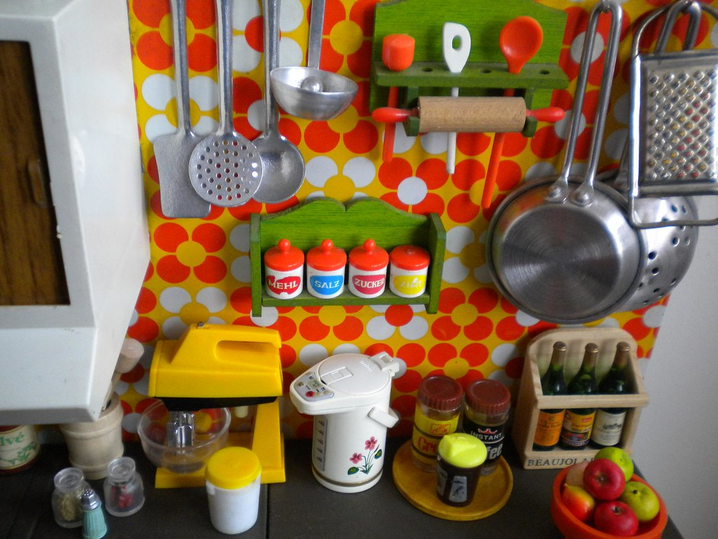 Vintage joustra toy kitchen vintage toy kitchen orange - Decoracion vintage cocina ...