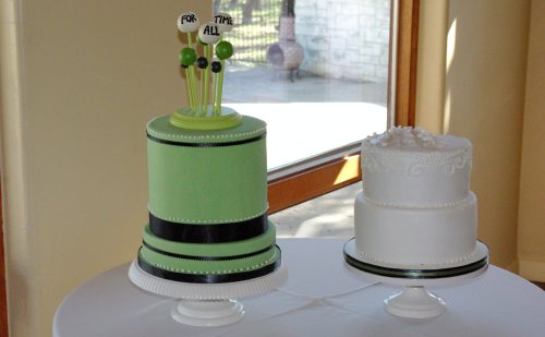 Green Cake with Topper | by wickedcakechick