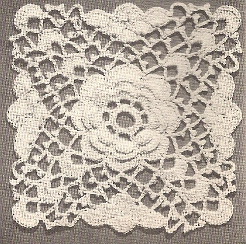 Crochet Stitches Vintage : Vintage Crochet Motif - 1947 by Charming Crochet