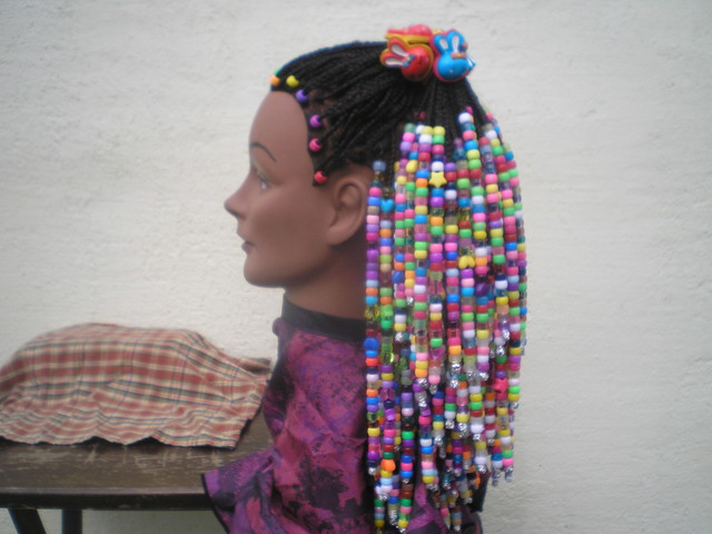 Hair Styles Braids With Beads: Braids And Beads Hairstyle, Left Side.
