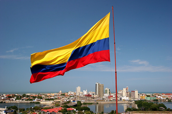 colombian flag huge colombian flag the city of cartagena flickr