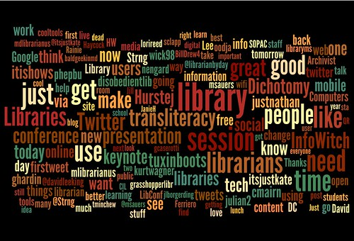 CiL2010 tweets in wordle | by Bobbi Newman
