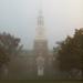 Baker Tower in Morning Fog