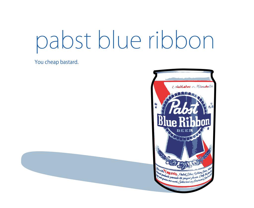 Pabst Blue Ribbon Bed Sheets