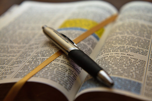 Open Bible with pen | by Ryk Neethling
