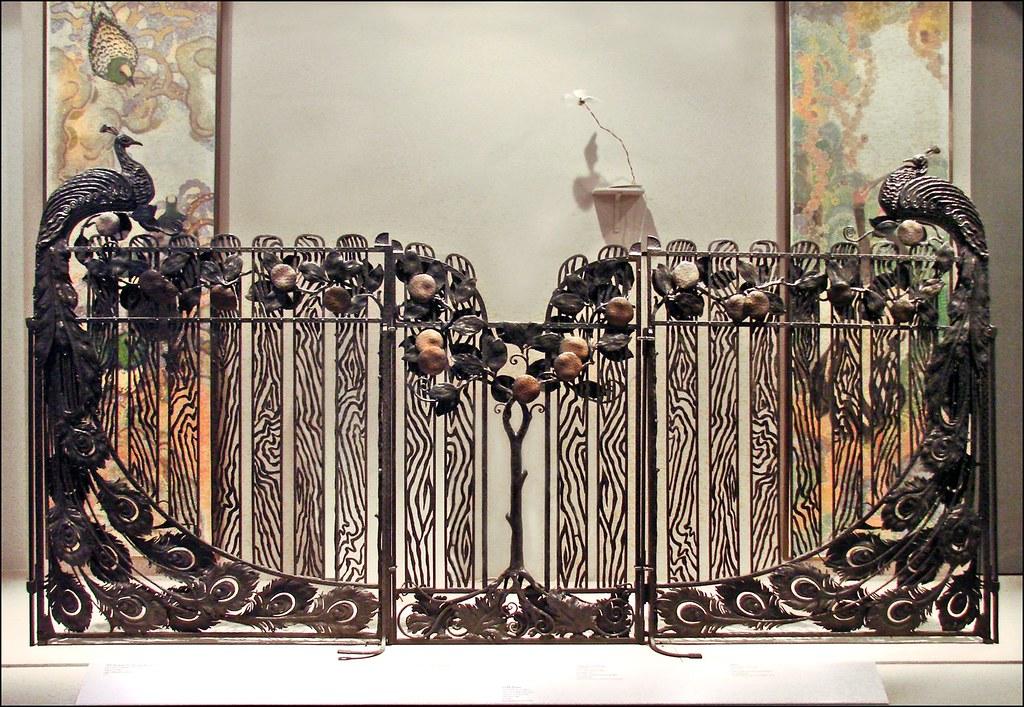 grille paons mus e des arts d coratifs grille paons oeuv flickr. Black Bedroom Furniture Sets. Home Design Ideas