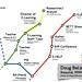 Doug's resumé as a London Underground map